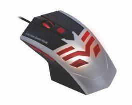Mouse Usb Óptico Led 1600 Dpis Gamer Azul Mo-x235 K-mex