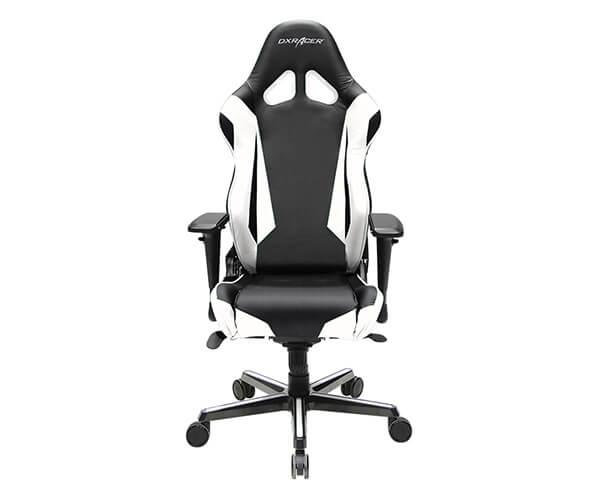 Cadeira DXRacer R - Series Black / White, RV001 / NW - BOX