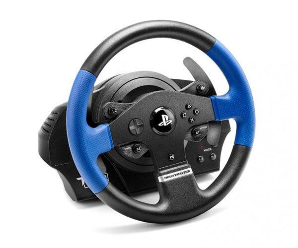 volante thrustmaster t150 force feedback racing wheel para playstation 4 pichau. Black Bedroom Furniture Sets. Home Design Ideas